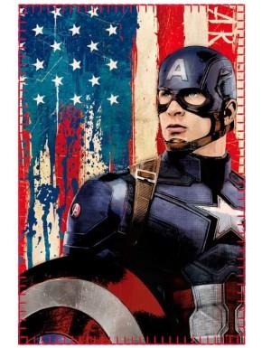Manta Polar Capitán América  Vintage