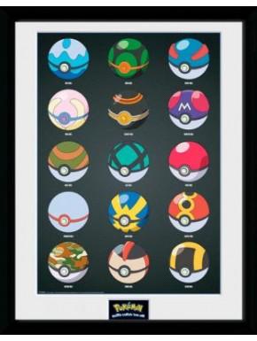 Poster Enmarcado Pokemon Pokeballs