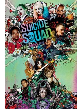 Poster Escuadrón Suicida Faces