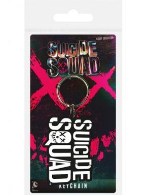 Llavero caucho Suicide Squad logo