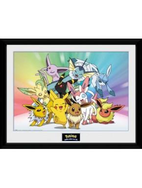 Poster Enmarcado Pokemon Eevee Friends