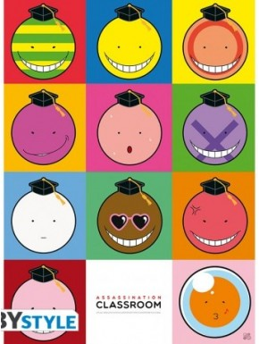 Poster Assassination Classroom Koro Faces