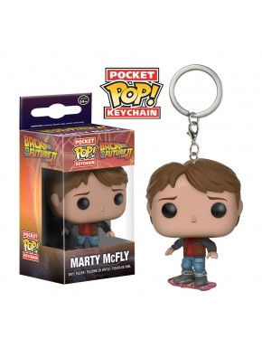 Llavero mini Funko Pop Marty McFly monopatín