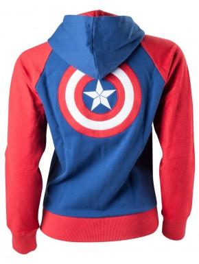 Sudadera chica Capitán América