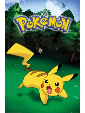 Poster Pokemon Pikachu Catch