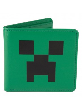 Minecraft cartera billetera cuero Crepeer