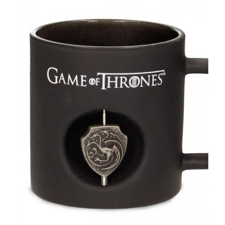 Taza cristal negro Targaryen 3D