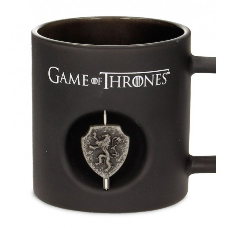 Taza cristal negro Lannister 3D
