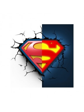 Lampara de pared Superman logo