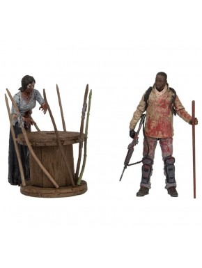 Set Figuras Deluxe Morgan y Caminante Empalado The Walking Dead