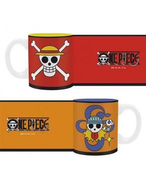 Mini tazas Luffy y Nami One Piece