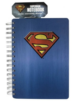 Libreta anillas azul A5 Superman