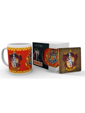 Taza y posavasos Harry Potter Gryffindor