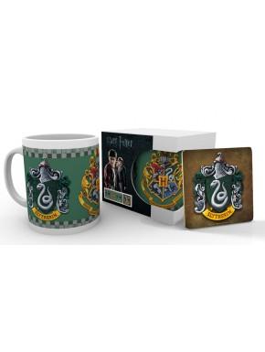 Taza y posavasos Harry Potter Slytherin