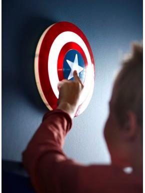 Lampara de pared LED Capitán América Escudo