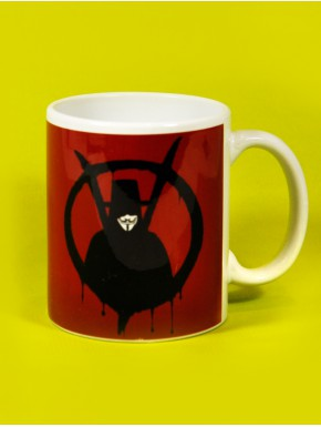Taza V de Vendetta red