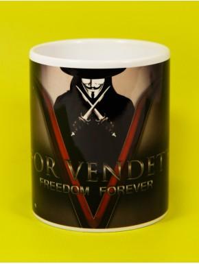 Taza V de Vendetta Freedom