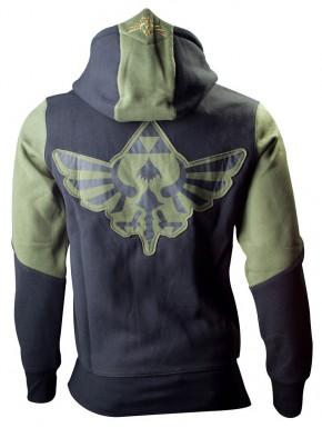 Sudadera Zelda trifuerza verde chico
