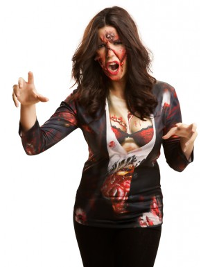 Camiseta Cosplay Zombie woman