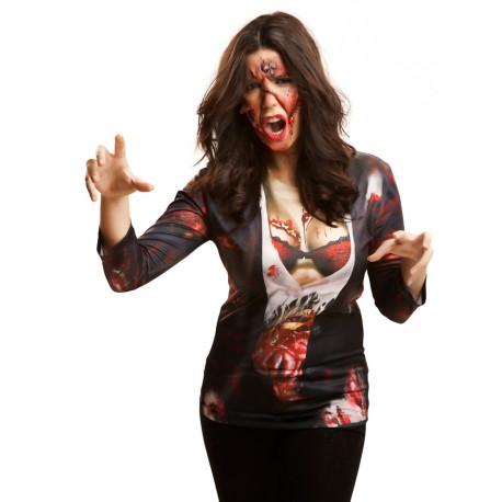 Camiseta Cosplay Zombie woman