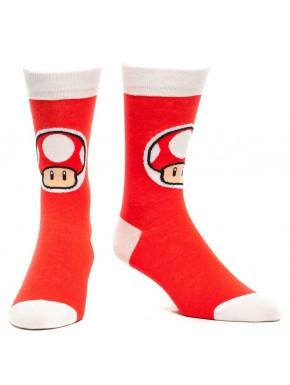Calcetines Super Mario Mushroom red