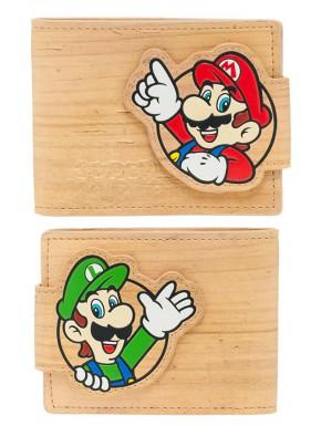 Cartera Super Mario woodgrain