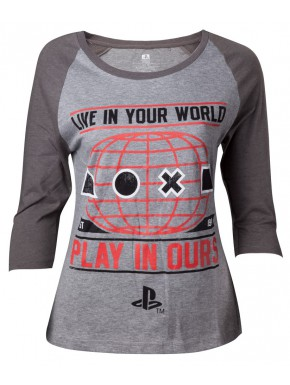 Camiseta chica PlayStation world