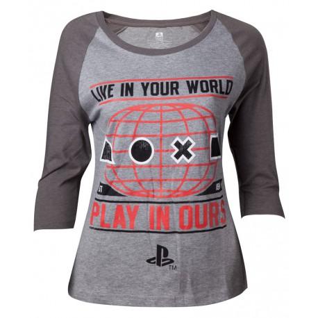 Camiseta chica PlayStation world
