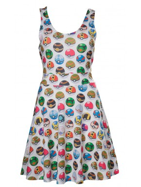 Vestido Pokemon Pokeballs