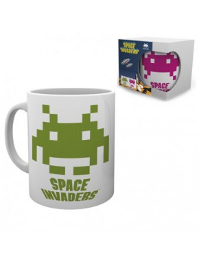 Taza Space Invaders bicolor