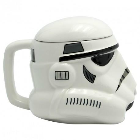 Taza Stormtrooper 3D con tapa