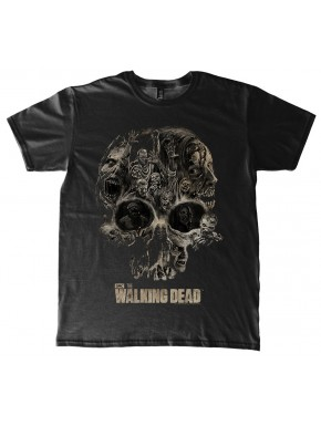 Walking Dead Camiseta Skull