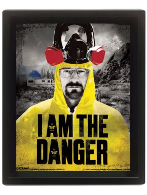 Poster 3D I am the danger Breaking Bad