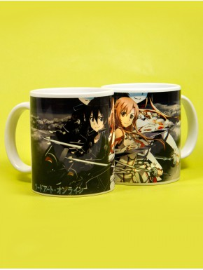 Taza Sword Art Online black and white