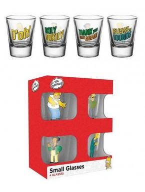 Vasos chupito Los Simpson frases