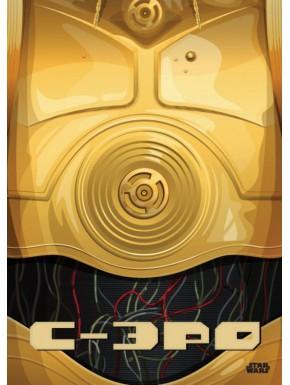 Poster metálico Star Wars C-3PO
