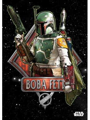 Poster metálico Star Wars Boba Fett