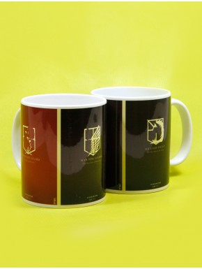 Taza Attack on Titan escudos