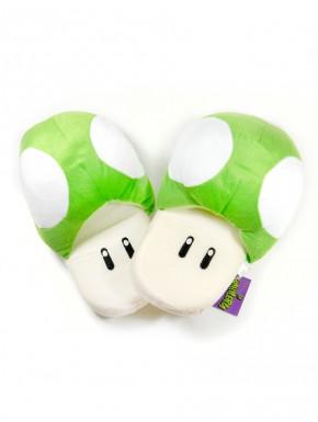 Super Mario zapatillas Mushroom verdes