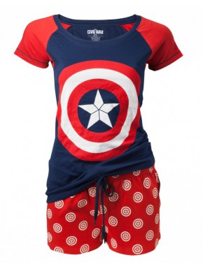 Pijama chica Capitán América