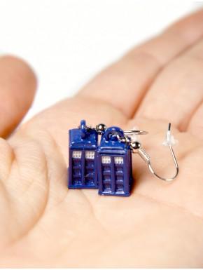 Pendientes Doctor Who Tardis