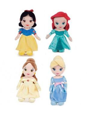 Set 4 peluches Princesas Disney 25 cm