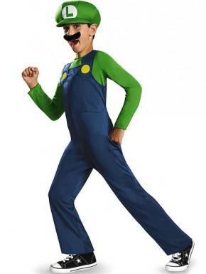 Disfraz niño Luigi Super Mario bros.