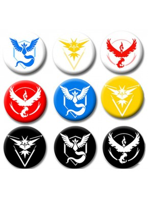 Set 9 chapas gimnasios Pokemon