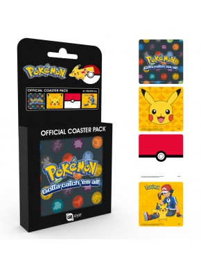 Set 4 posavasos corcho Pokemon