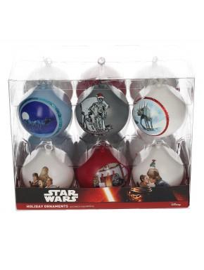 Set 12 bolas Navidad Star Wars films