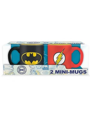 Set 2 mini tazas DC Comics