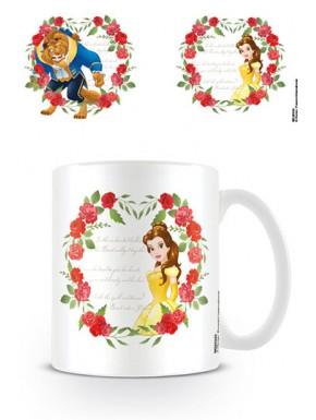 Taza Disney Bella y Bestia rose