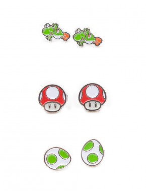 Set Pendientes Super Mario Fresh