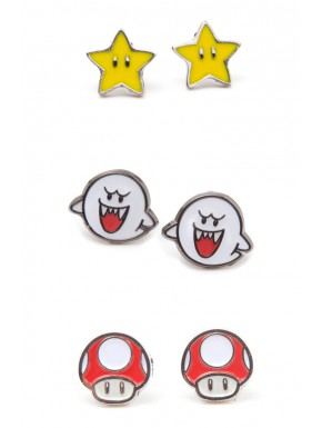 Set Pendientes Super Mario Star